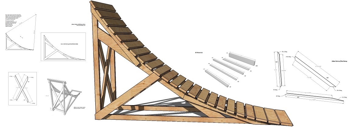 How To Make A Wooden Mountain Bike Ramp Bicycling And